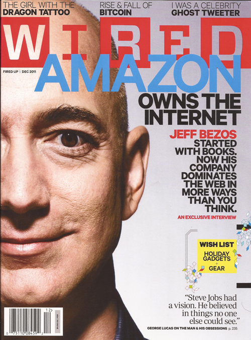 Jeff Bezos on Wired Magazine Cover